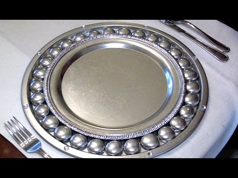 & How To Make Antique Silver Charger Plates - Ep3 part2 - YouTube