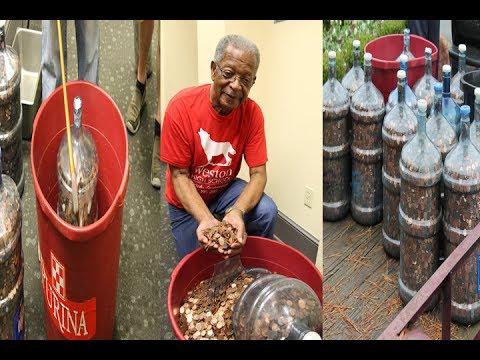 pria ini kumpulkan uang koin selama 40 tahun di 15 galon air Mp3