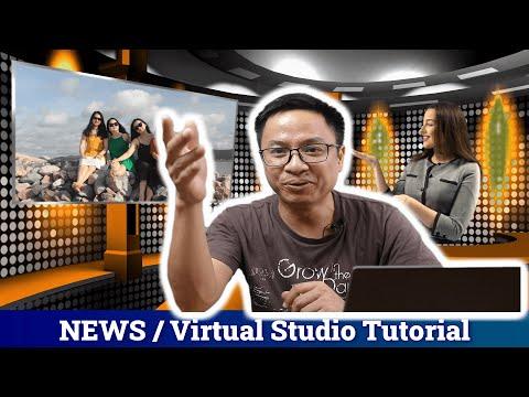 How to create Virtual Studio/ Room News and Editing Tricks In Filmora9