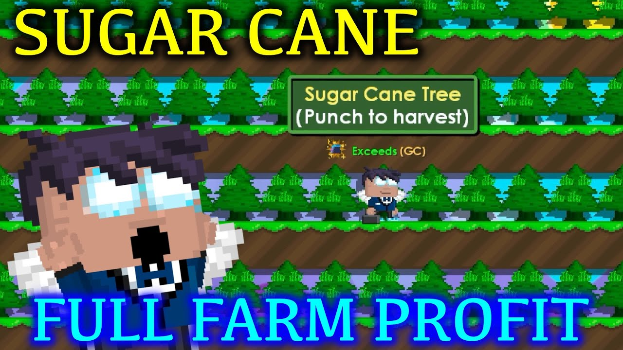 Profit From Full Farm Sugar Cane In Growtopia ! Easy WLS Profit ! | Growtopia