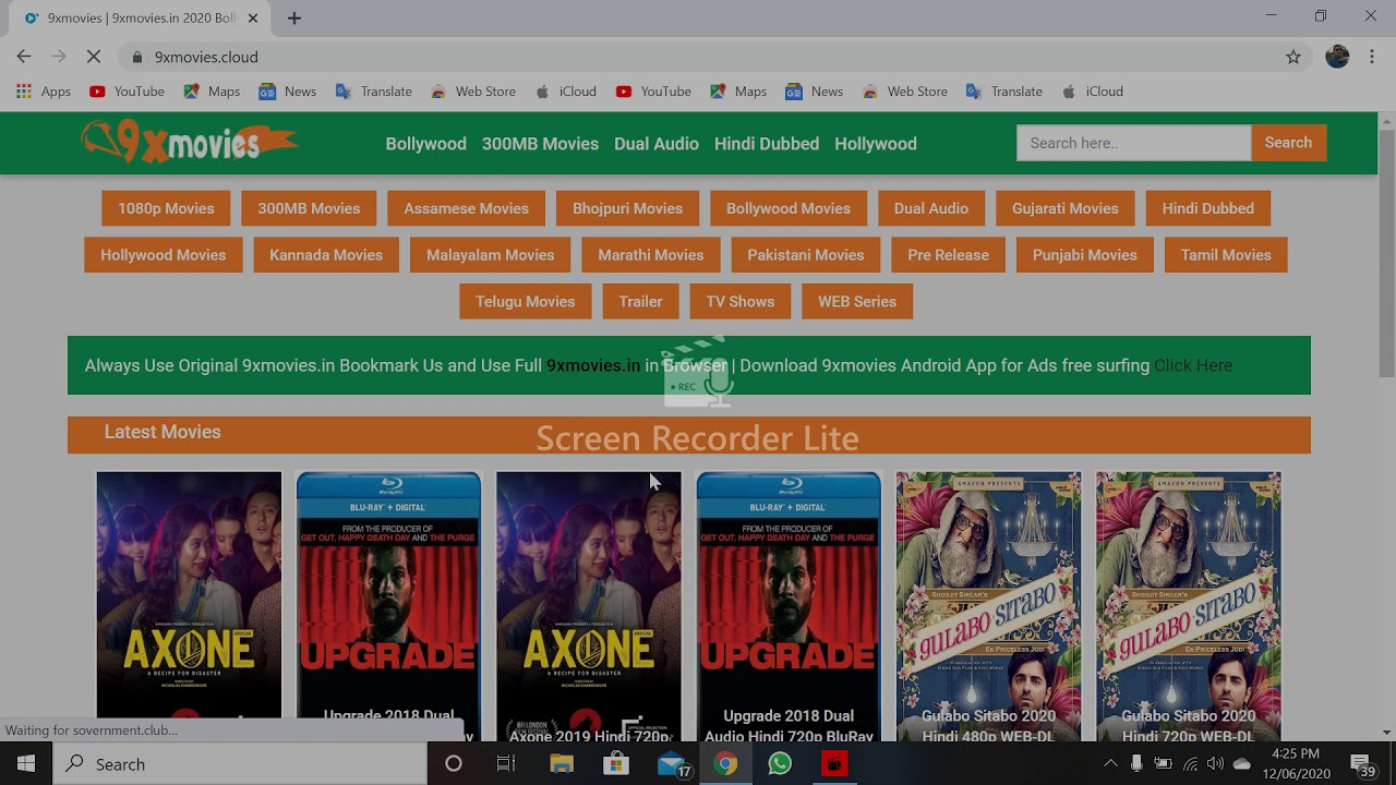 Download how to open 9xmovies site