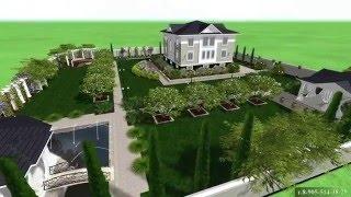 видео Ландшафтный дизайн участка 20 соток планирование