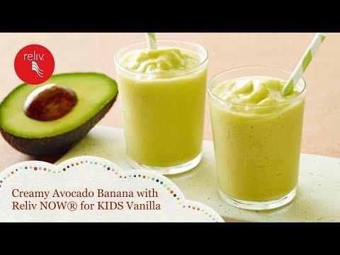 Creamy Avocado Banana with Reliv NOW® for KIDS