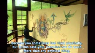 'The Icaro' Visionary Ayahuasca Art Luis Tamani Amasifuen TierraMitica thumbnail