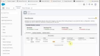 Salesforce Lightning: Steps for Creating Sandbox for Testing and Training
