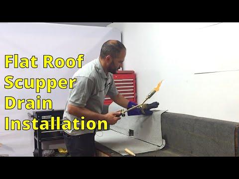 Installing A Flat Roof Scupper Drain - Tutorial