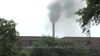 A factory spewing pollution into the air - Faridabad