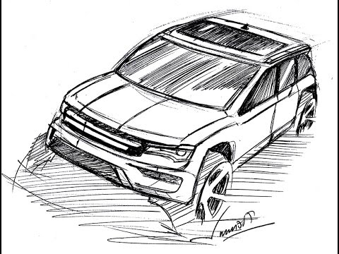 How To Draw A Car Suv Upper Perspective View Steadt