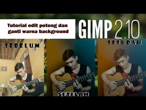 GIMP - Tutorial edit foto potong dan ganti background thumbnail