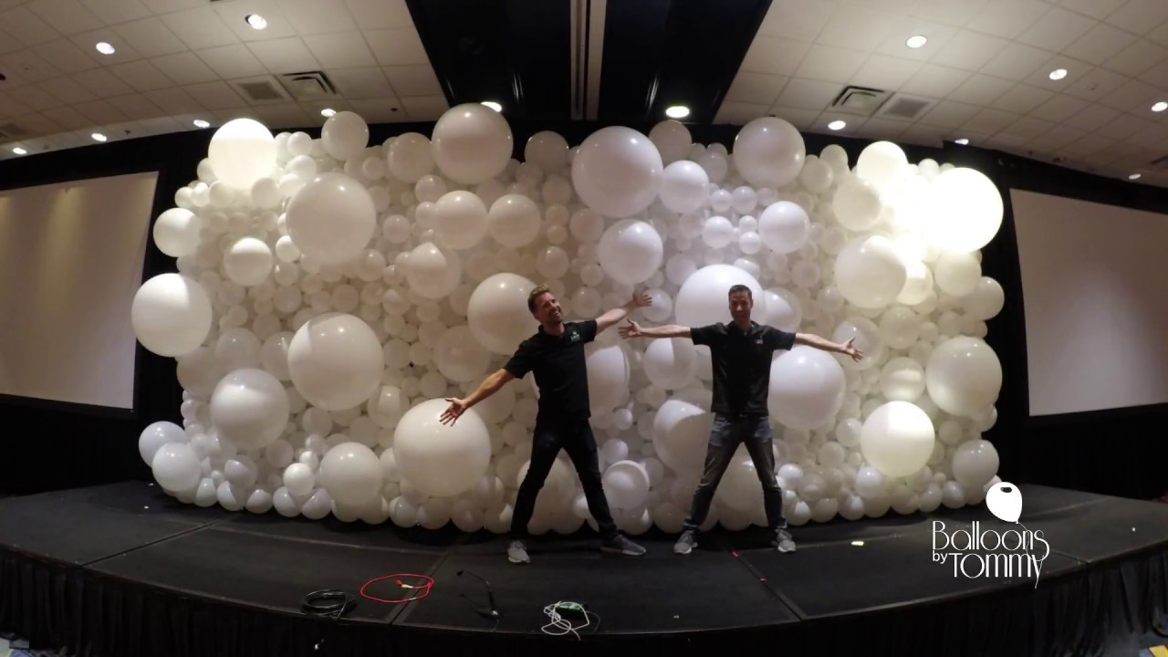 Organic Balloon Wall Time Lapse Setup Balloons By Tommy