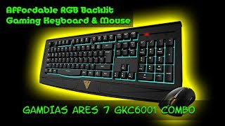 Unboxing GAMDIAS GKC6001 ARES 7 Color RGB Gaming Keyboard and Erebosle Optical Gaming Mouse Combo