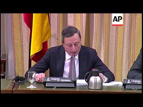 European Central Bank head Mario Draghi comments on euro exchange rate debate