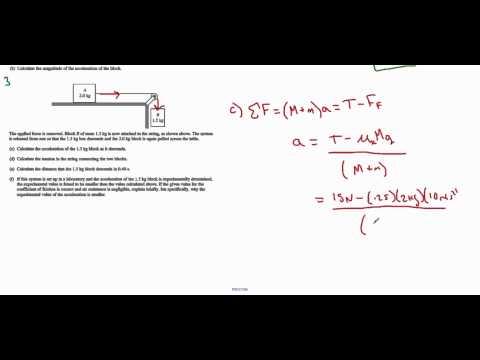 AP Physics B - 2012 #1 (Dynamics)