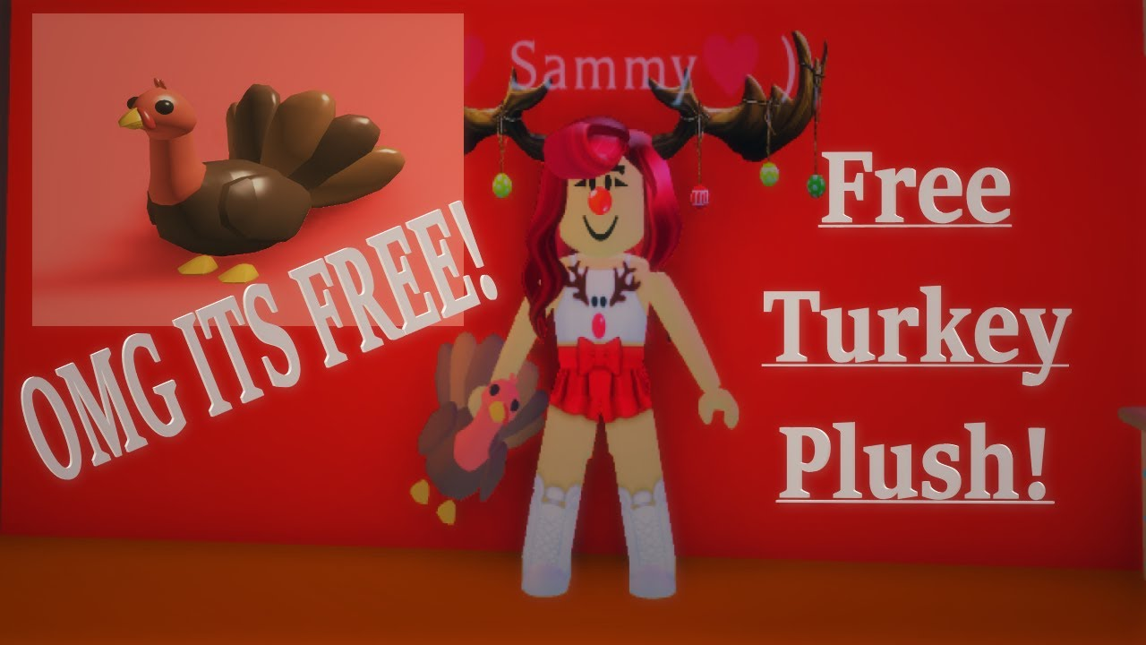Plush Roblox Adopt Me Toys How To Get Free Turkey Plush On Adopt Me Youtube