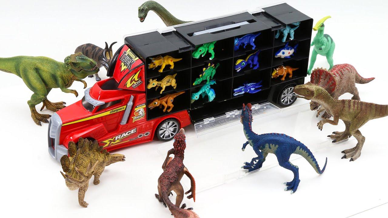 까꿍! 아기 공룡들이 캐리어에 타고 있어요  재미있는 엄마 공룡 찾기 놀이 해보아요