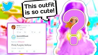 MY TWITTER FOLLOWERS CHOOSE AND RATE MY OUTFIT 👗 // Roblox Royale High School
