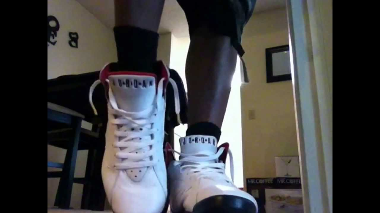 2bfb3ac2a36488 Air jordan retro 7 cardinals on feet - YouTube