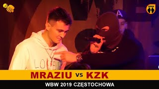 Kzk  Mraziu  WBW 2019 Częstochwa (freestyle rap battle)