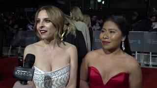 BAFTAs Red Carpet – Oscar nominees Yalitza Aparicio and Marina de Tavira (Roma)