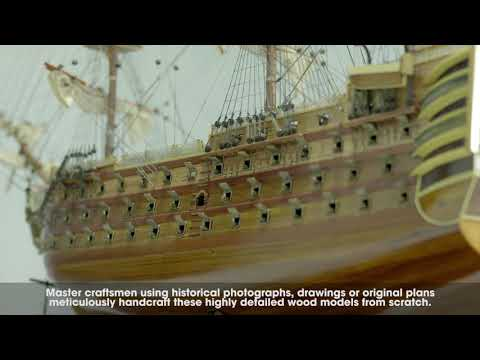 HMS Victory Tall ship Wooden Model Pre-assembled Ready For Display!