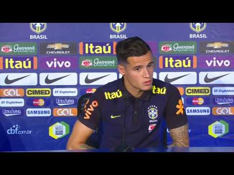 Seleção Brasileira:  Coletiva Philippe Coutinho e Gabriel Jesus - 08/10/2016