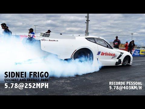 Corvette 4.000HP Sidnei Frigo - Warm up em Palm Beach - Recorde Pessoal 5.78@403km/h