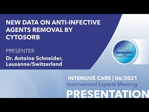 New data on anti-infective agents removal by CytoSorb