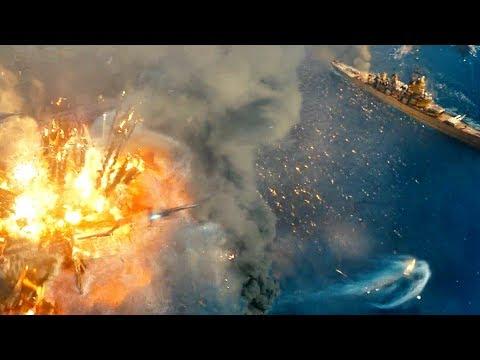 ВМС США уничтожают последний корабль пришельцев. Морской бой