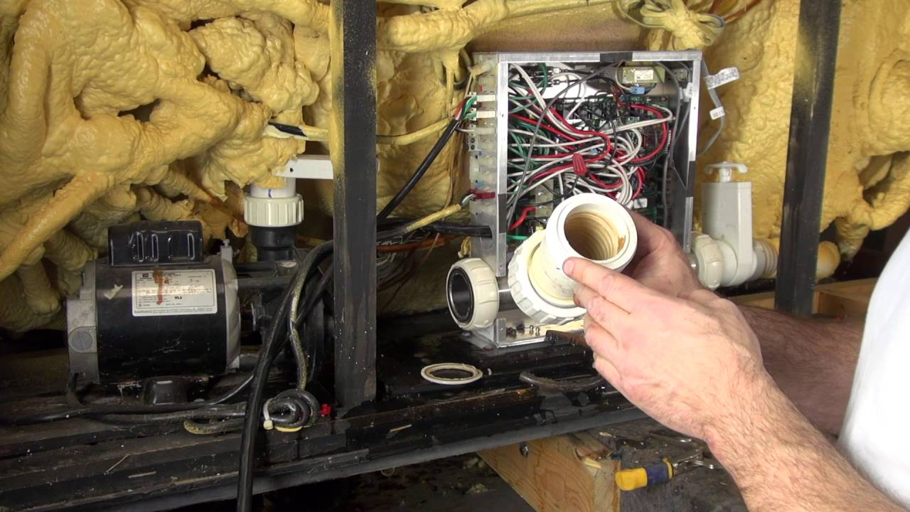 medium resolution of how to replace leaking hot tub heater union gaskets the spa guy