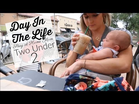 DAY IN THE LIFE SAHM | TWO UNDER TWO | TODDLER AND NEWBORN