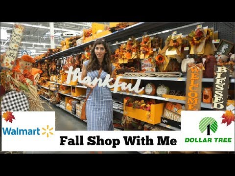 Fall Shop With Me Walmart & Dollar Tree   Fall Decor 2018   Momma From Scratch