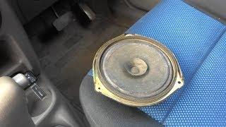 Замена заднего динамика на Mazda Demio