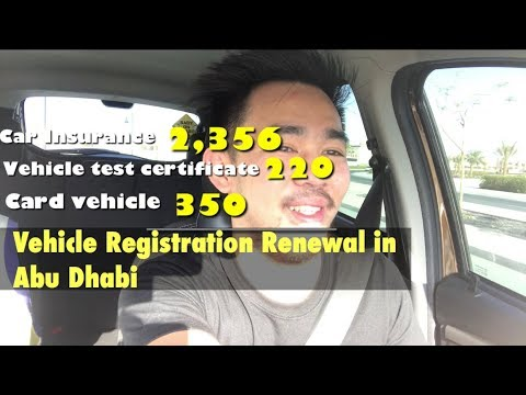 How To Renew Car Registration And Insurance || Step By Step || Abu Dhabi