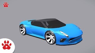 Sport CAr Saturn Robust City Raijin Racing | Super Cars for Kids | #h Colour Song for Kids