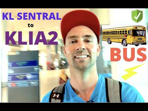 KL SENTRAL to KLIA2 by BUS 🚌✈️🇲🇾