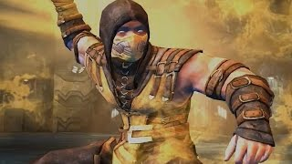 Injustice: Gods Among Us - Mortal Kombat X Scorpion Super Attack Moves [iPad/Android]