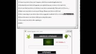 how to upgrade android 2.3.4 to 4.1