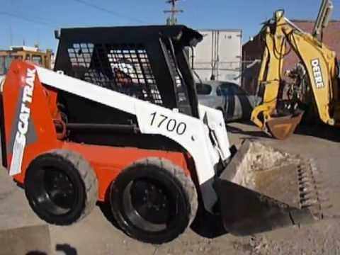 1700-C SCAT TRAK SKID STEER LOADER - YouTube