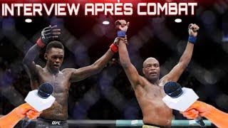 Anderson Silva et Israel Adesanya : INTERVIEW APRES COMBAT !