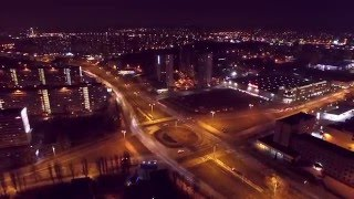 Drone Hyperlapse, aerial time lapse - CITY TRAFIC