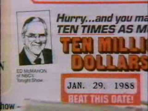 December 1987 - American Family Sweepstakes Ad