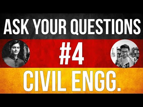 🔴 📹 Ask Your Questions #4: Civil Engineering studies in Germany