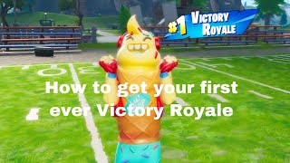 How to get your first VICTORY ROYALE in Fortnite Battle Royale| Fortnite Challenges