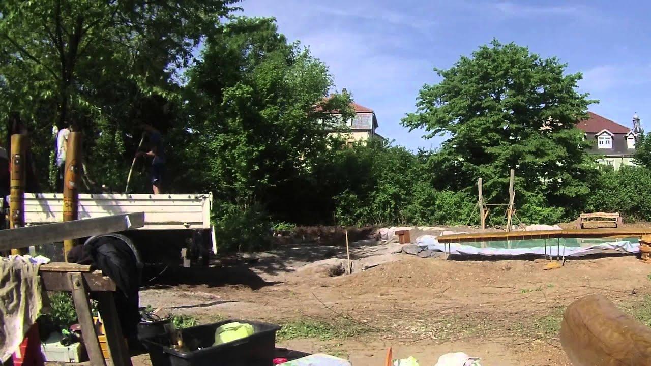 Teichbau  Teichbau Projekt IGH Heidelberg 2015 - YouTube