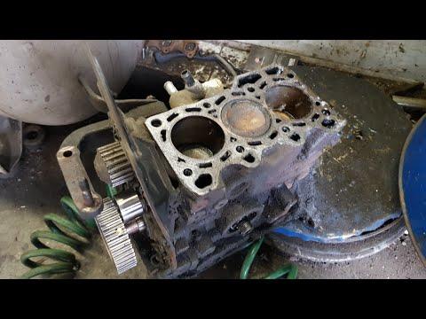 Капитальный ремонт двигателя Матиз. Часть 4 - разбираем блок цилиндров.