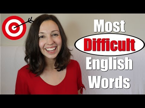 Pronounce 33 MOST DIFFICULT English Words