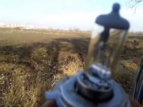Замена лампочки фары на РЕНО ЛОГАН