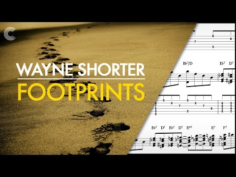 C Treble Clef - Lead Sheet - Footprints - Wayne Shorter - Sheet Music, Chords, & Vocals