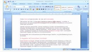 Microsoft Office 2007 - Word - Eingaben markieren und loeschen
