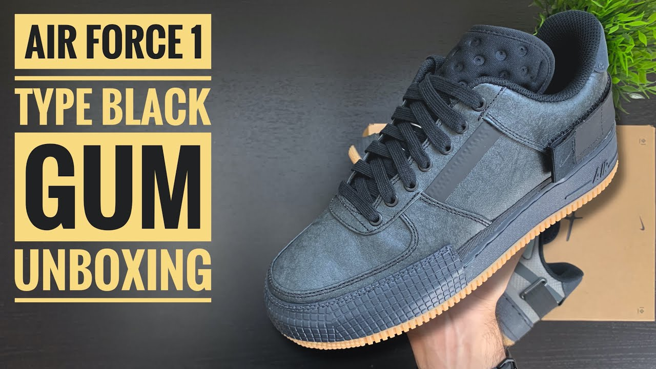 Nike Air Force 1 Type 'Black Gum' | Unboxing | 4K | Sneaker Therapy